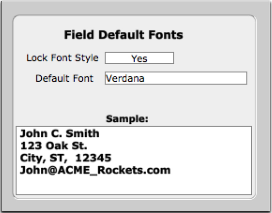 Default Fonts